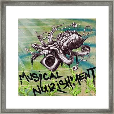 Musical Nourishment Framed Print by Tai Taeoalii
