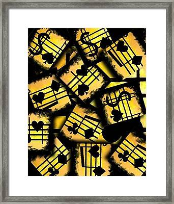 Musical Poker Casino Collage Framed Print by Teo Alfonso