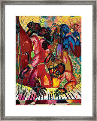 Musicfest Framed Print by Larry Poncho Brown