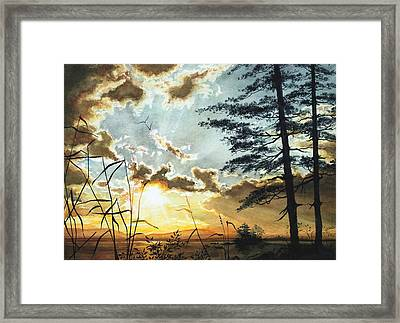 Muskoka Dawn Framed Print by Hanne Lore Koehler