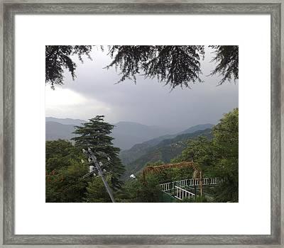 Mussoorie Monsoons Framed Print by Padamvir Singh