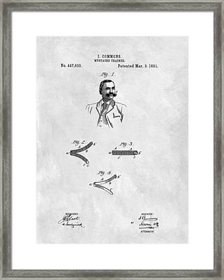 Mustache Trainer Patent Framed Print by Dan Sproul