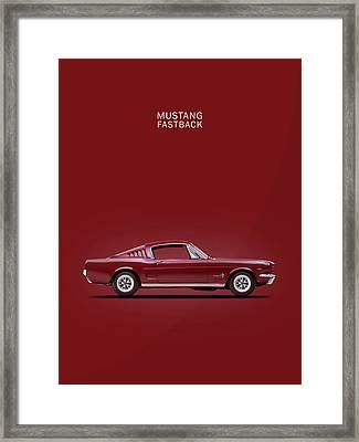 Mustang Fastback Framed Print by Mark Rogan