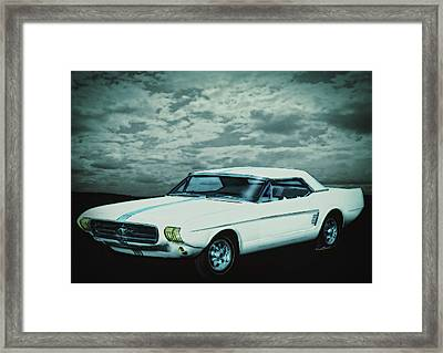 Mustang II Concept 1963 Framed Print by Chas Sinklier