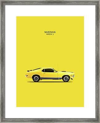 Mustang Mach 1 Framed Print by Mark Rogan