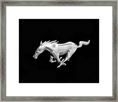 Mustang Framed Print by Rona Black