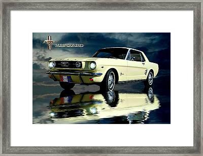 Mustang Framed Print by Steven Agius