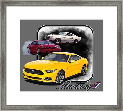 Mustangs Through Time Framed Print by Paul Kuras