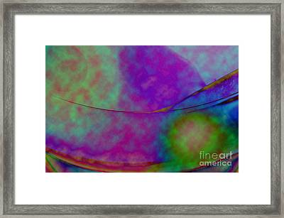 Muted Cool Tone Abstract Framed Print by Andee Design
