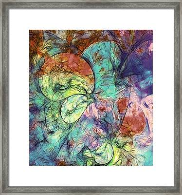 Muted Heaven Abstract Framed Print by Georgiana Romanovna