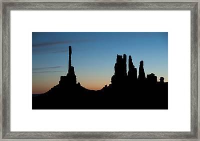 Mv Sunrise Totem Pole And Yei Bi Chei 7218 Framed Print by Bob Neiman