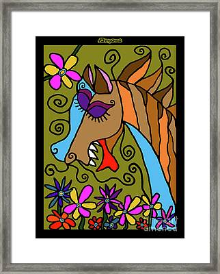 My Beautiful Horse Framed Print by MyChicC