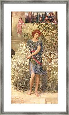 My Beloved Has Gone Down To His Garden Framed Print by John Melhuish Strudwick