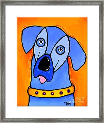 My Brother Is Blue Too Framed Print by Tim Ross