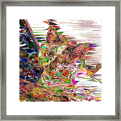 My Cat Of Many Colors Framed Print by Carmen Hathaway