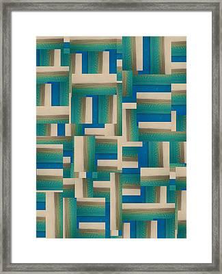 My Coastal Colors Harmony Inspire Your Home Framed Print by Betsy C Knapp