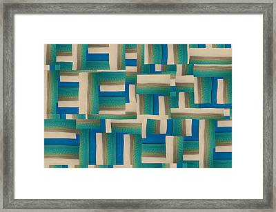 My Coastal Colors Harmony Wave Framed Print by Betsy C Knapp