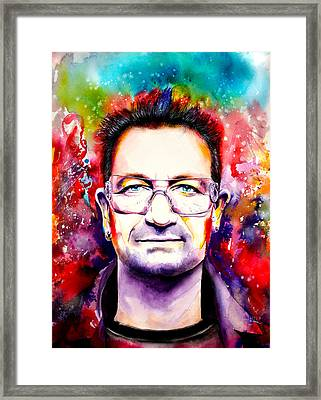 My Colors For Bono Framed Print by Isabel Salvador