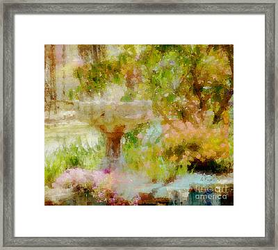 My Cup Overflows Framed Print by Anita Faye