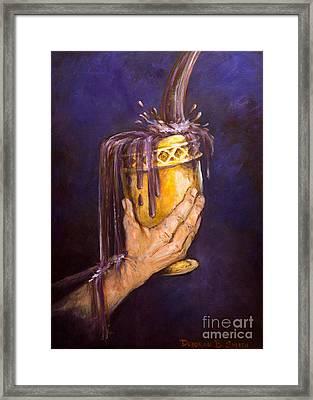 My Cup Runs Over Framed Print by Deborah Smith