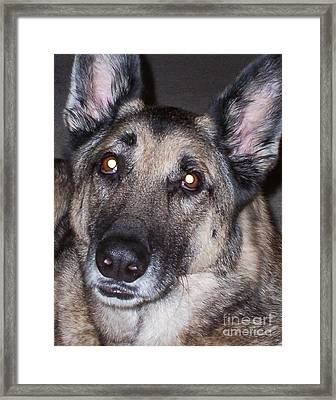 My Eyes Light Up Whenever I See You Framed Print by Roy Anthony Kaelin