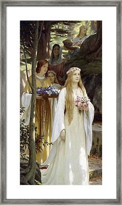 My Fair Lady Framed Print by Edmund Blair Leighton