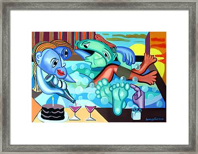 My First  Anniversary Framed Print by Anthony Falbo