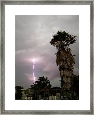 My First Bolt Framed Print by James Granberry
