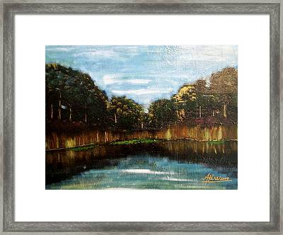 My Fishing Hole Framed Print by Edmund Akers
