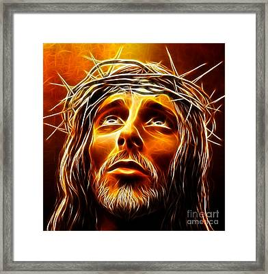 My God  Why Have You Abandoned Me Framed Print by Pamela Johnson