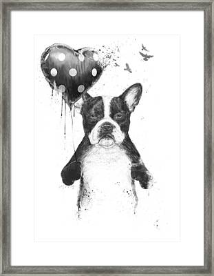 My Heart Goes Boom Framed Print by Balazs Solti