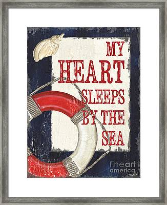 My Heart Sleeps By The Sea Framed Print by Debbie DeWitt