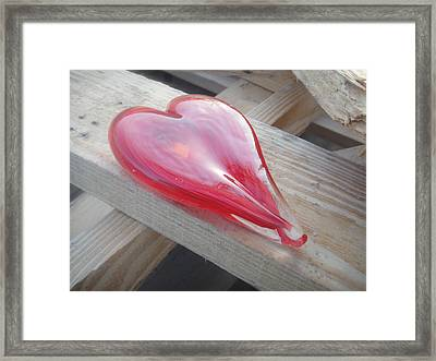 My Hearts On A Pile Of Wood Framed Print by WaLdEmAr BoRrErO
