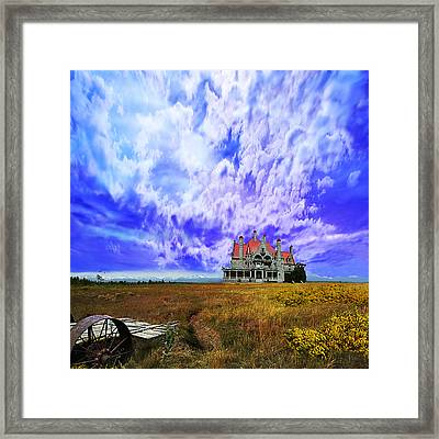My House On A Hill Framed Print by Jeff Burgess