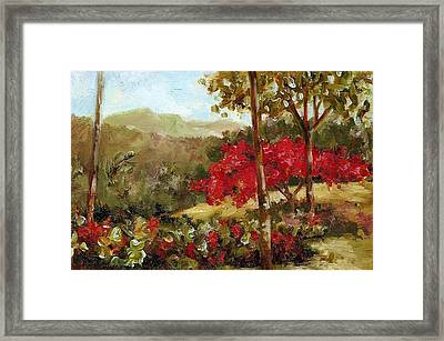 My House Over Yonder Framed Print by Monica Linville