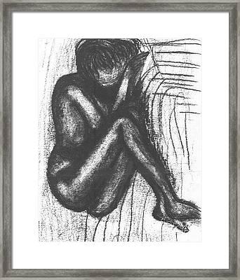 My Humble Spirit Base Drawing Framed Print by Angela L Walker