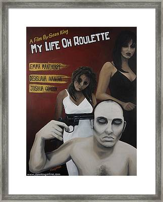 My Life Oh Roulette Framed Print by Kelly Jade King