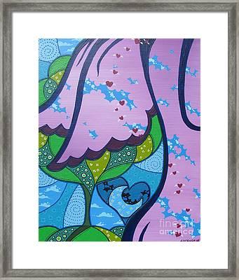 My Little Hippie Framed Print by Dan Keough