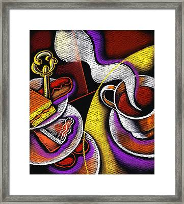 My Morning Coffee Framed Print by Leon Zernitsky