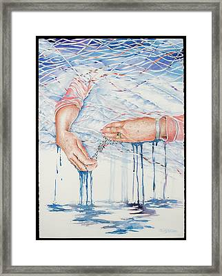 My Mother's Hands Framed Print by Carolyn Coffey Wallace