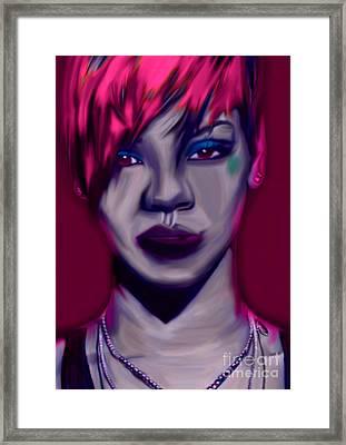 My Name Is Rihanna By Felix Von Altersheim Framed Print by Felix Von Altersheim