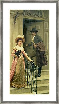 My Next Door Neighbor Framed Print by Edmund Blair Leighton