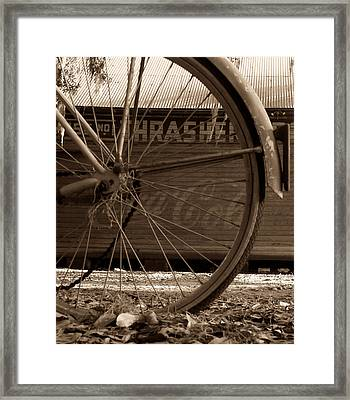My Old Bike Framed Print by David Lee Thompson
