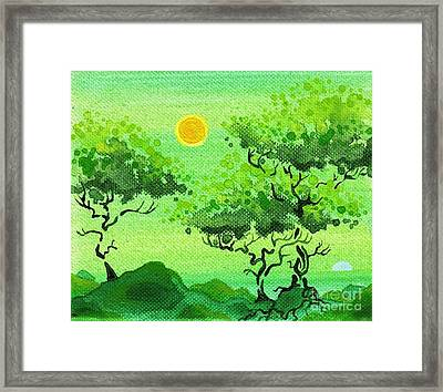 My Painting Framed Print by Dan Keough