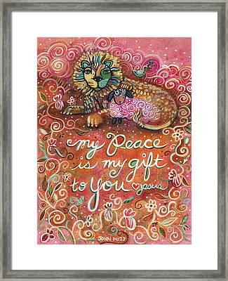 My Peace Is My Gift Framed Print by Jen Norton