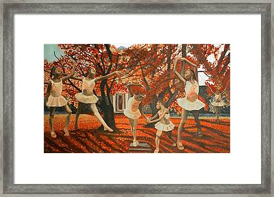 My Spirit Rises In Fall Framed Print by Amira Najah Whitfield