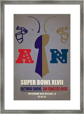 My Super Bowl Ravens 49ers Framed Print by Joe Hamilton