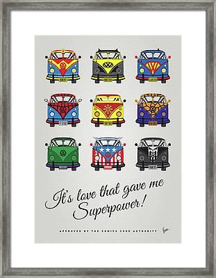 My Superhero-vw-t1-supermanmy Superhero-vw-t1-universe Framed Print by Chungkong Art