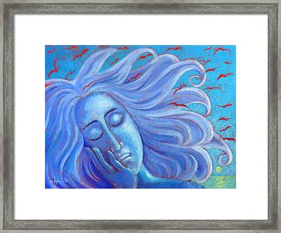 My Thoughts Fly Far Beyond Me Framed Print by Angela Treat Lyon