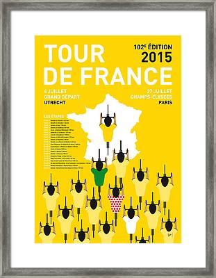 My Tour De France Minimal Poster Etapes 2015 Framed Print by Chungkong Art
